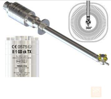 MI42-316 - Очиститель емкости с гидравлическим приводом - Ø50 мм CE